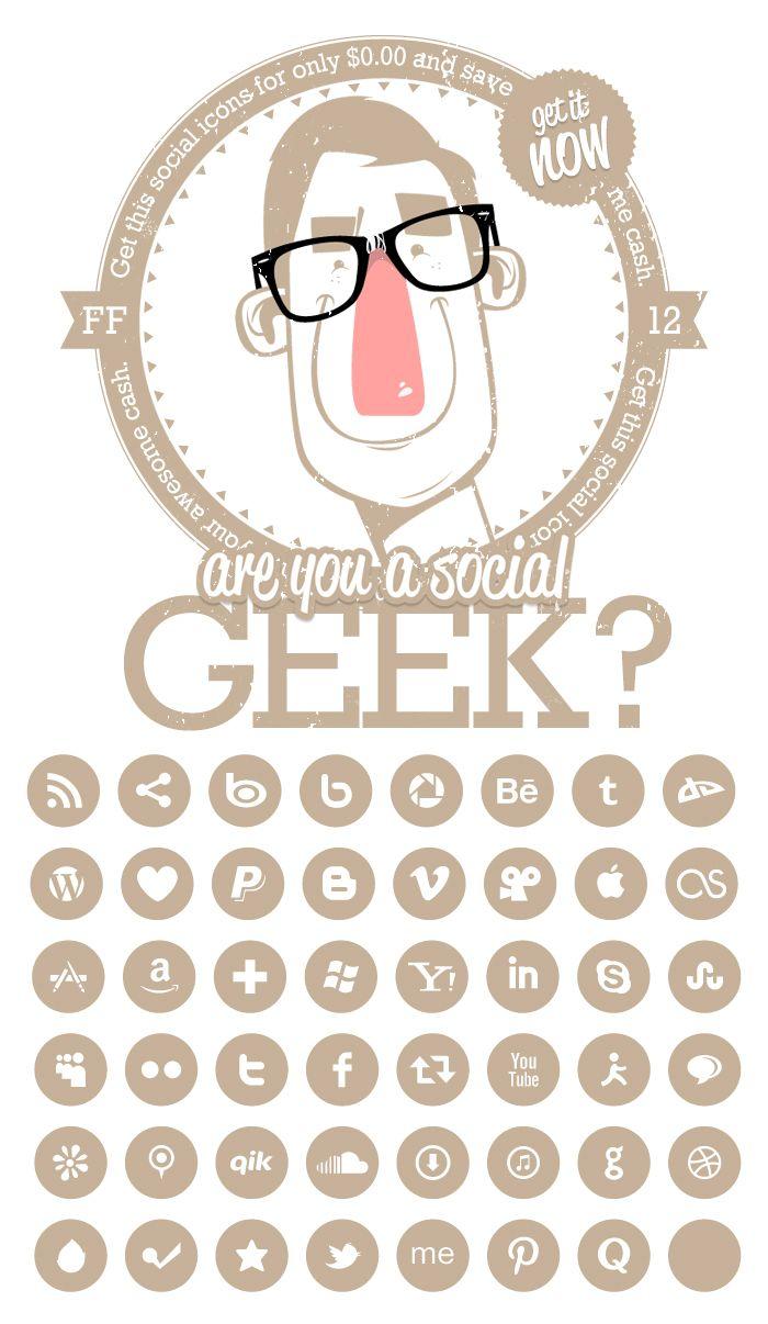 Social Media Font Icons.