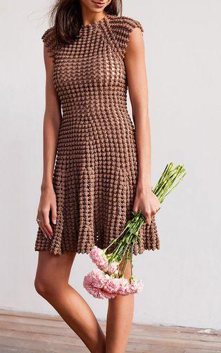 Popcorn Stitch Mini Dress by HELEN RöDEL for Preorder on Moda Operandi:
