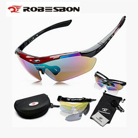 ROBESBON Mulheres Homens MTB Estrada de Montanha Ciclismo Equitação Bicicleta UV400 Sports óculos de Sol Óculos Óculos de Proteção 5 Lente