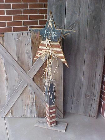 517 Best Images About Fourth Of July Wood Crafts On Pinterest God Bless America Primitive