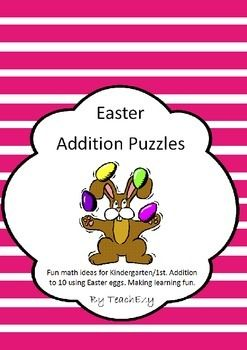 Easter Addition Puzzles