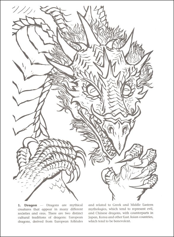 World Of Dragons Coloring Book Images