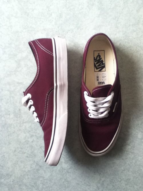 Really wanting maroon vans...They're like the best color ...