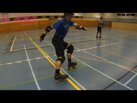 Hockey Stops with the Amsterdam Derby Dames - YouTube I am seriously better at them now.  Best breakdown I've seen.