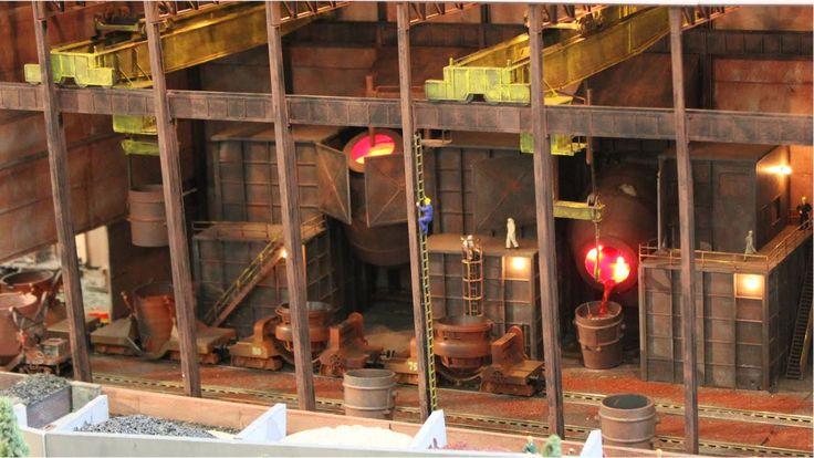 H0 Modellbahn - Stahlwerk & Hafen (HD)