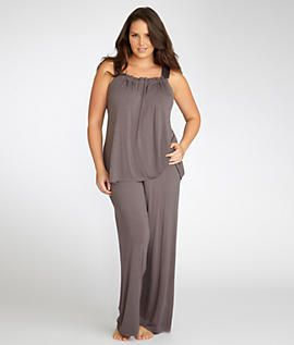 Midnight by Carole Hochman: Isn't It Romantic Pajama Set Plus Size