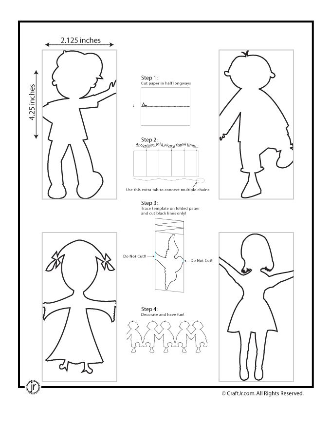 Free Printable: Paper Chain People ~ YES!!!! I have always wanted to know how to cut these!!!!