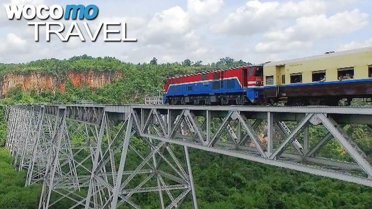 Seit über hundert Jahren durchquert eine Bahnlinie die Shan-Provinz Myanmars: Der Mandalay-Lashio-Express verbindet die heiße Tiefebene mit dem hügeligen Hochland – eine wichtige, aber fragile Lebensader für Tausende Anwohner.  Mitten auf der Bahnstrecke zwischen Mandalay und Lashio öffnet sich plötzlich eine 300 Meter tiefe Schlucht.
