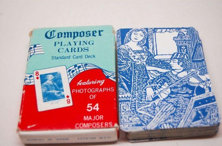 Card Games vintage SEt 2 COMPOSER & Pocket MOVIE TRIVIA