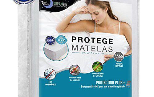 Protège Matelas Imperméable, Respirant, Hypoallergénique, Anti-Acarien, Anti-Bactérien, Anti-Moisissure par Dreamzie – Alèse avec…