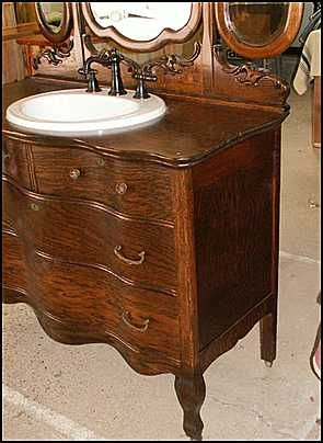 antique bathroom vanity half bath