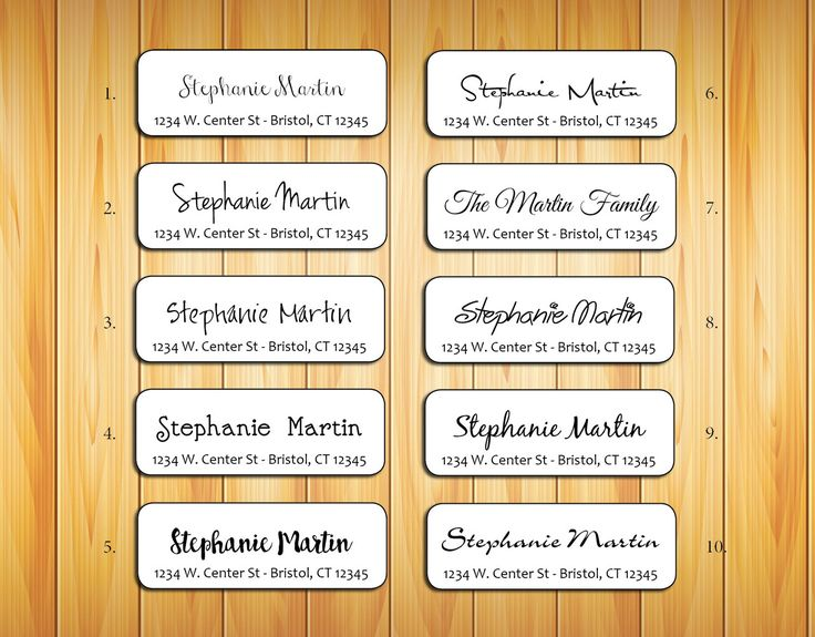 Personalized Return ADDRESS Labels - Family Name