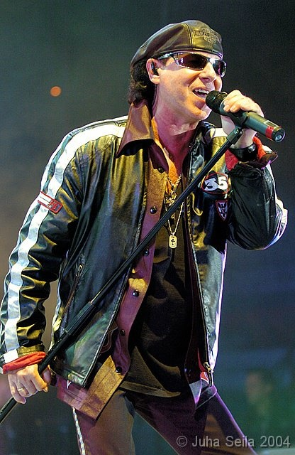 Klaus Meine (Scorpions). He is in his 60's and still has it. The band are such skilled musicians with a strong sense of versatility.