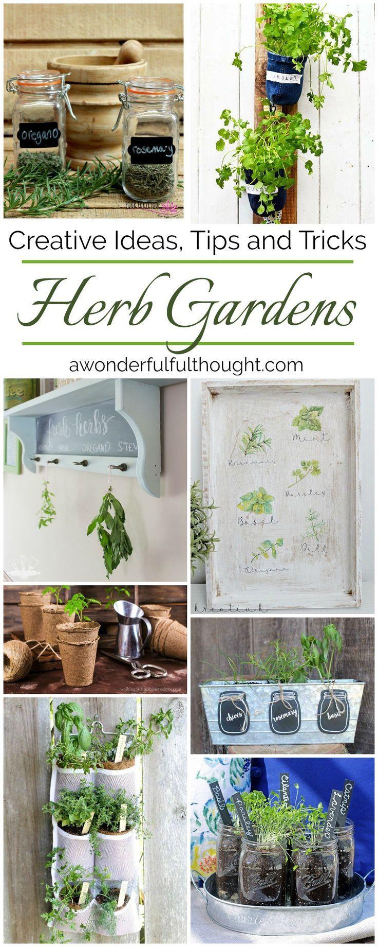 Creative Herb Garden Ideas Diy Gardening Ideas Pinterest Herb