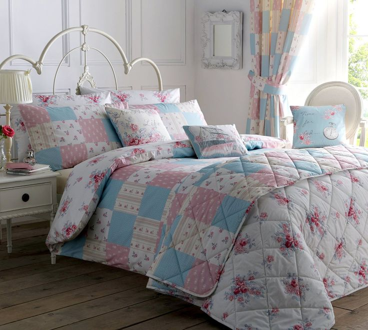 'Patsy' Single Duvet Cover Set in Rose, Includes: 1x Single Duvet Cover and 1x Pillowcase: Amazon.co.uk: Kitchen & Home