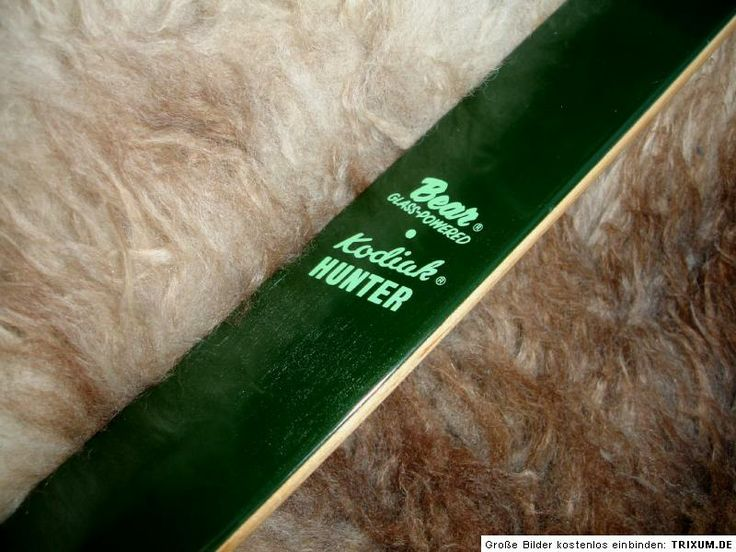 bear kodiak hunter | ... Recurvebogen Recurve Bogen Langbogen BEAR Kodiak Hunter 52 lbs LH 60