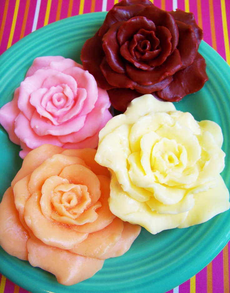 Rose Blossom Flower Soap