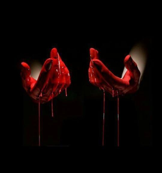 bloody hand holding - photo #44
