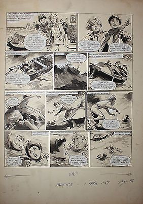 Girls Comic Original Art By LESLIE OTWAY Of ALONA. in Books, Comics & Magazines, Comics, Original Comic Art | eBay
