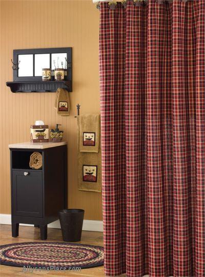 Best Primitive Shower Curtains Images On Pinterest Primitive