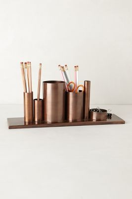 A bronze desk set is where it's at! | $48 @Anthropologie #gifts #gifting
