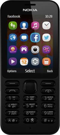 """Nokia 222 Dual SIM (черный)  — 3390 руб. —  ФОТОГРАФИРУЙТЕ И ОБМЕНИВАЙТЕСЬ СНИМКАМИ Фотографируйте с помощью Nokia 222 Dual SIM все, что происходит вокруг. Двухмегапиксельная камера позволяет делать отличные снимки. Используйте Facebook или GroupMe by Skype для обмена фотографиями с друзьями и близкими. ИНТЕРНЕТ В ВАШЕМ ТЕЛЕФОНЕ Находите нужную информацию с помощью браузера Opera Mini, приложения """"MSN Погода"""" и поисковой системы Bing. Общайтесь с друзьями и узнавайте новости с помощью…"""