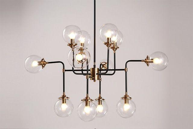 Moderne Schaduw Glas Kroonluchter Licht E14 Lamp LED Hanglamp Moderne Verlichting artistieke sphere Beanstalk moleculaire kroonluchter