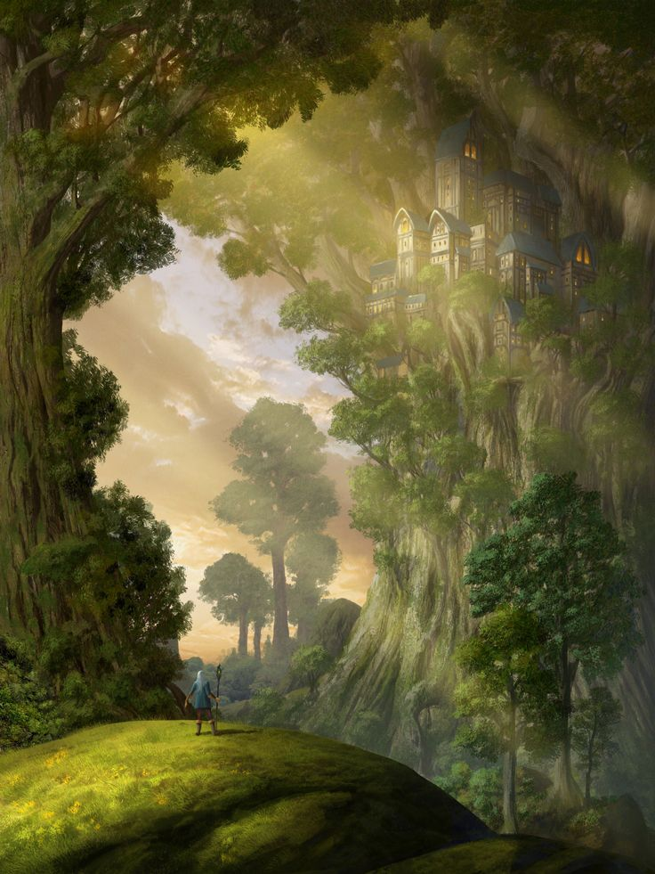 ArtStation - TreeCastle for the Facebook Brainstorm Group , Andreas Adamek