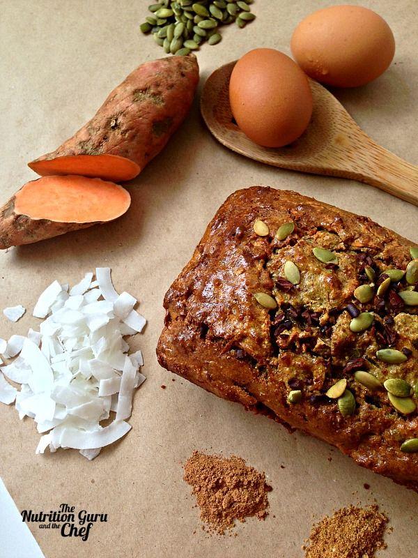 Sweet Potato and Coconut bread recipe gluten free