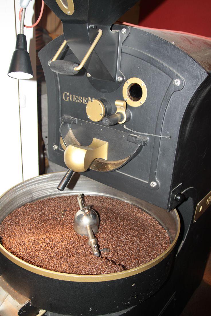 Kaffeebohnen werden geröstet