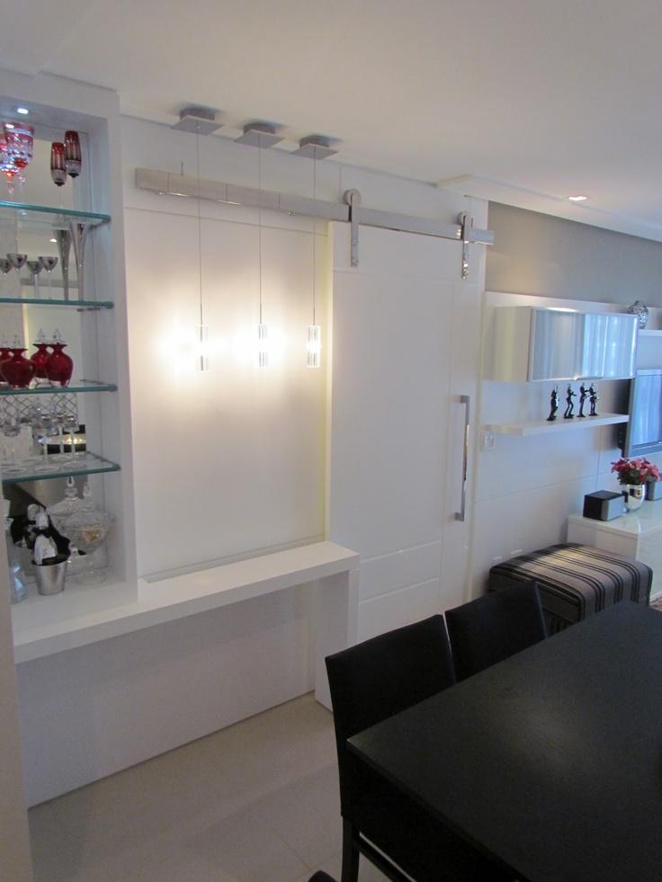 porta de correr p/ separa a cozinha da sala de janta