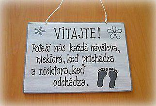 Tabuľky - Tabuľka na dvere, Vitajte - 4824046_