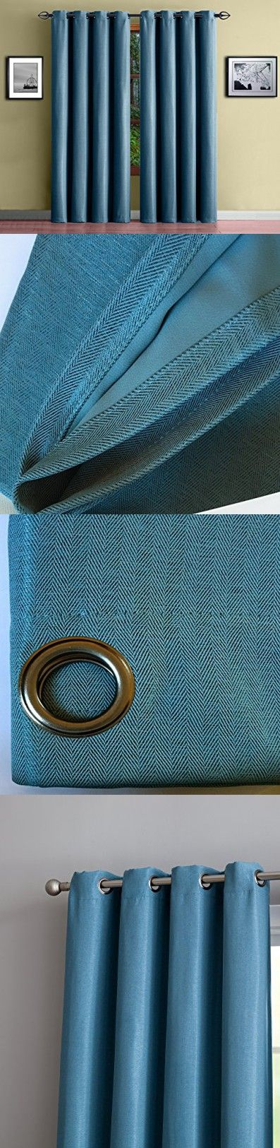 """Warm Home Designs 1 Panel of Blue Teal Insulated Blackout Curtains with Grommet Top. Extra Wide, Energy Saving, Room Darkening Thermal Window Drapes are 54"""" X 84"""" Inches In Size. Teal 84"""