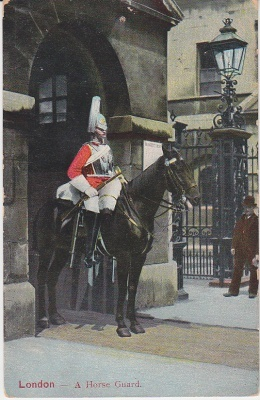 E F A Postcard - London - A Horse Guard (c1904)