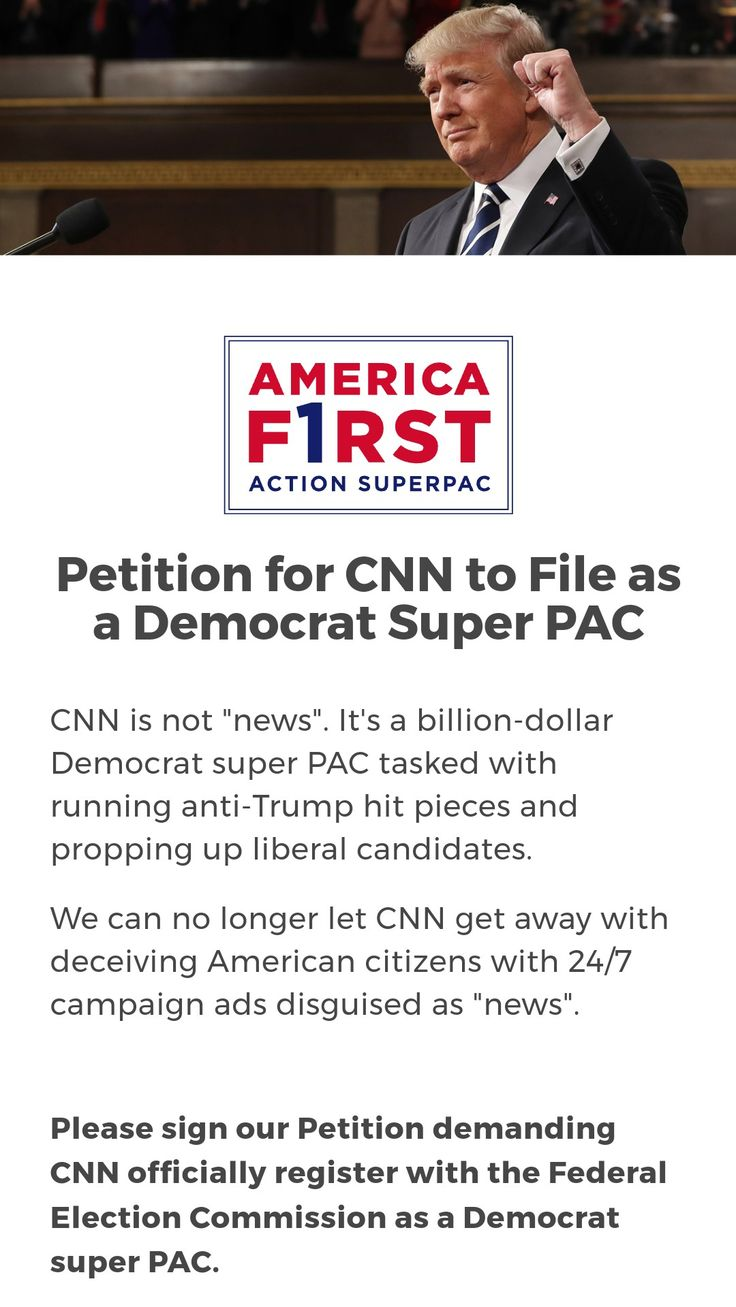 ⚠️⚠️CNN must file as a Democrat Super PAC⚠️⚠️ SIGN NOW