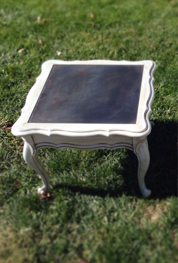 Refurbished End Table by ThruThePicketFence on Etsy