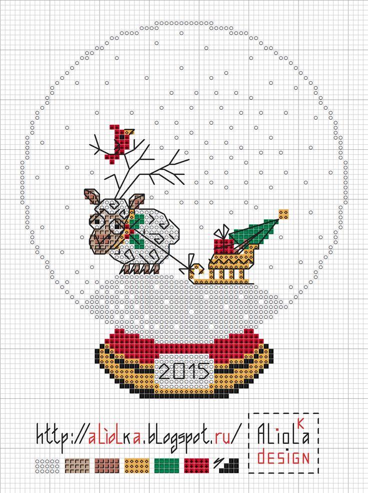 Sheep Christmas. Chart & Color Key.
