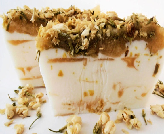 Honey Jasmine Shea Butter Handmade Soap by EcoChicSoaps on Etsy, $7.00