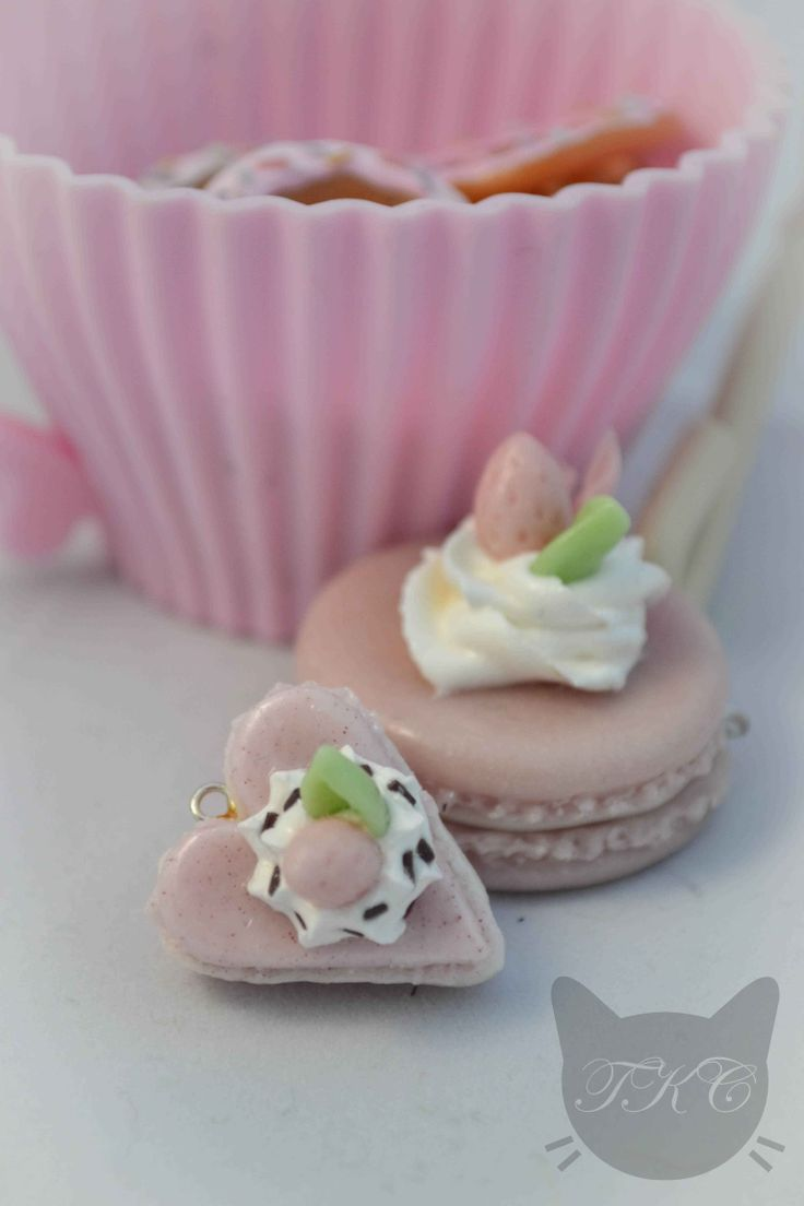 Different pieces all handmade by the Clay Kitten from cold porcelain clay. She loves pastels... Available for purchase soon.