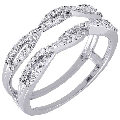 jewelry for less designers present to you this beautiful enhancer wraps for engagement wedding rings this enhancer is set in real white gold - Wedding Ring Wrap