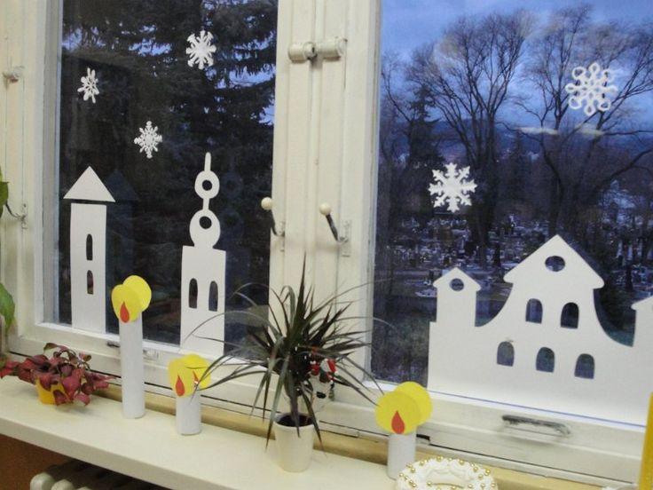 zimná výzdoba okien