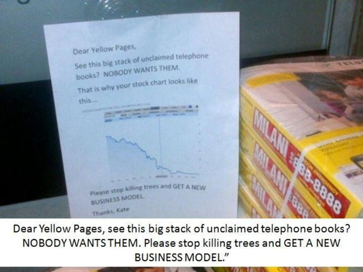 Dear yellow pages, please get a new business model