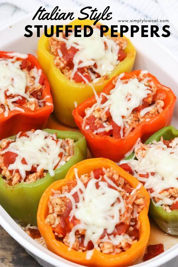 Italian Style Stuffed Peppers Recipe In 2020 Stuffed Peppers Low Calorie Recipes Dinner Low Cal Recipes