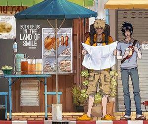 Modern life Sasuke and Naruto #sasuke #naruto