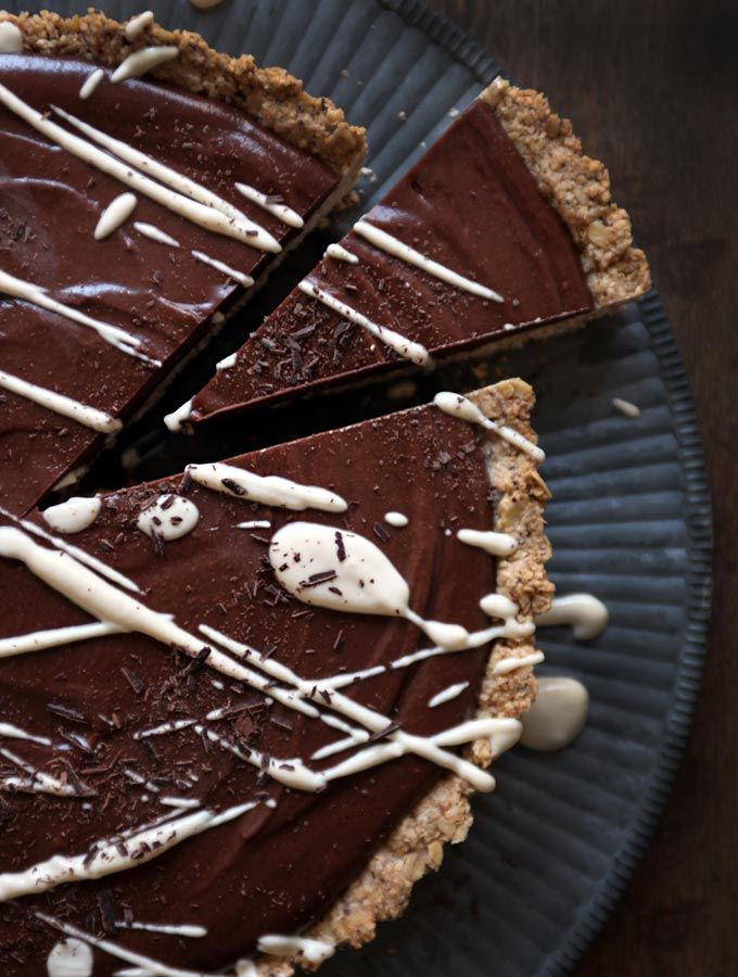 Chilled chocolate espresso torte with toasted hazelnut crust from Oh She Glows | My New Roots