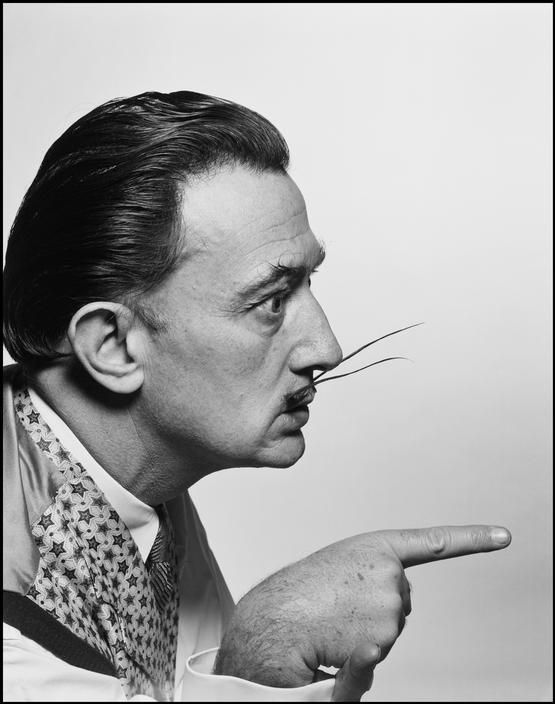 SALVADOR DALI......1954.........PHOTO BY PHILIPPE HALSMAN................ON MAGNUM PHOTOS.....