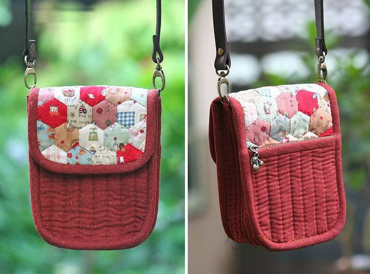 Patchwork and Quilted  Purse  http://www.handmadiya.com/2015/11/patchwork-and-quilted-purse.html