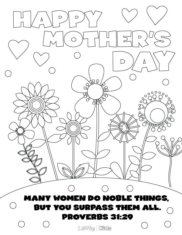 print out this mothers day coloring page for your sponsored child then they can color - Free Mothers Day Coloring Pages