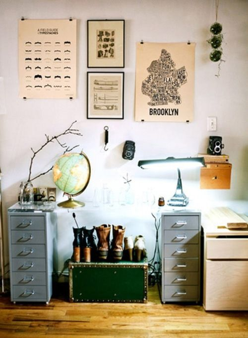 ...: Idea, Offices Spaces, Metals, Glob, File Cabinets, Workspaces, Desks, Drawers, Posters