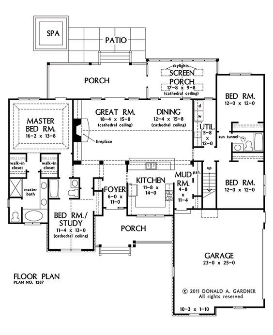 Craftsman design - The Hardesty #1287 first floor